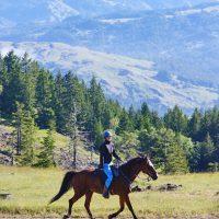 Miss CSHA Mary Homicz on Endurance ride